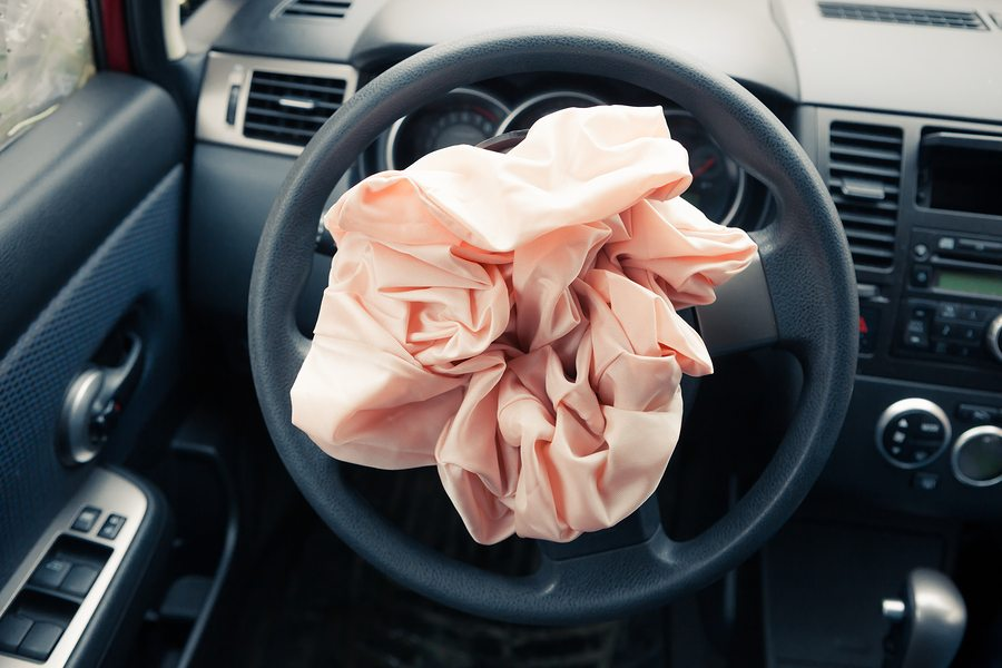 Airbag explodes on steering wheel